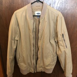 Tan old navy bomber jacket